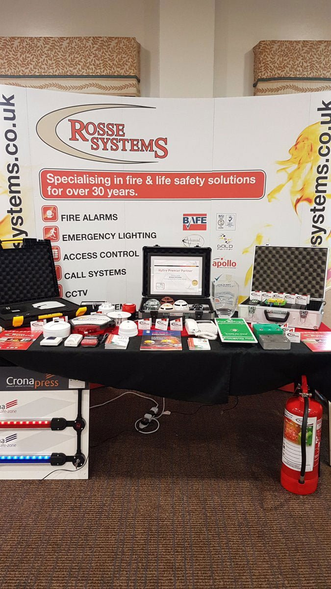 Rosse Systems Event Stand With Products
